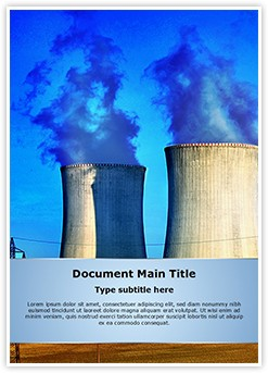 Nuclear Power Plant Editable Word Template