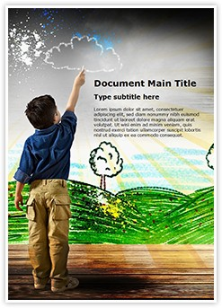 Child Drawing Editable Word Template