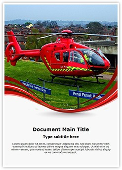 Medical Services Air Ambulance Editable Word Template