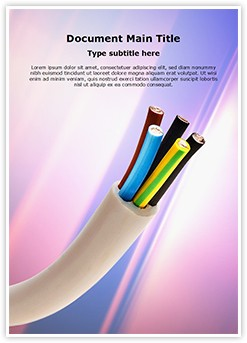 Electric Conductor Cable Editable Word Template