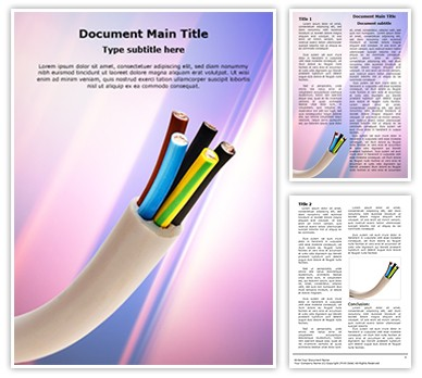 Electric Conductor Cable Editable Word Document Template