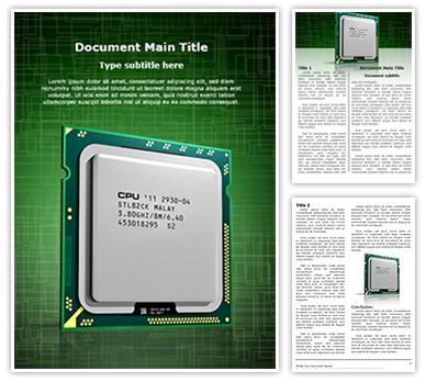 CPU Editable Word Document Template