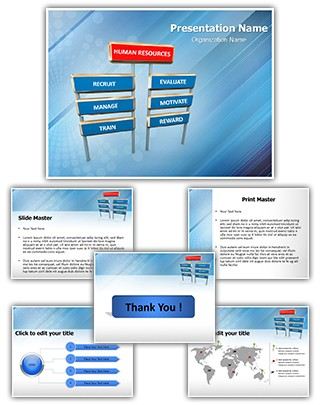 Human Resource Management Editable PowerPoint Template