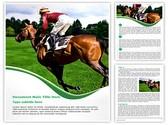 Horse and jockey Editable Word Template