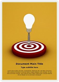 Idea Target Editable Word Template