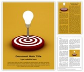 Idea Target Editable Word Template