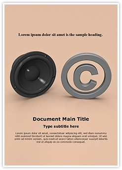 Music Copyright Law Editable Word Template
