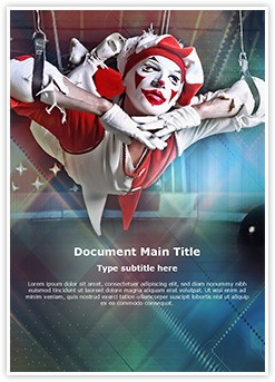 Circus Acrobat Editable Word Template