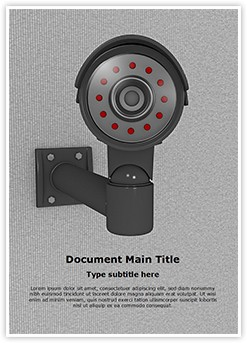 Security CCTV Camera Editable Word Template