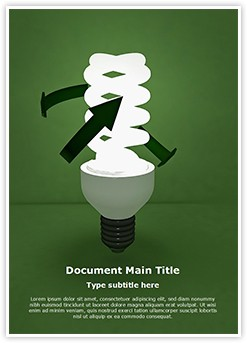 CFL Green Energy Editable Word Template