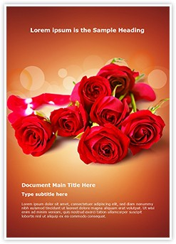 Red Rose Editable Word Template