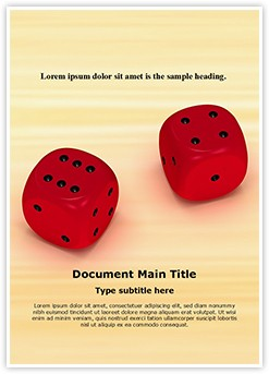 Dice Editable Word Template