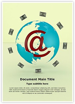 Global Email Marketing Editable Word Template