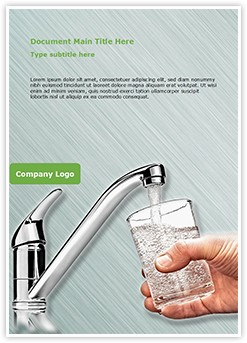 Drinking water Editable Word Template