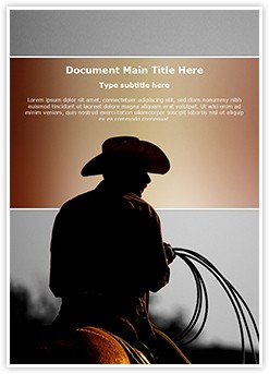 Cowboy Editable Word Template
