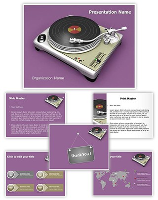 Turntable Editable 3D PPT Template