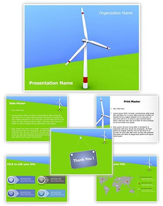Windmill Editable 3D PPT Template