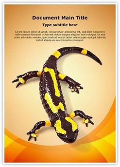 Toxic Amphibian Editable Word Template
