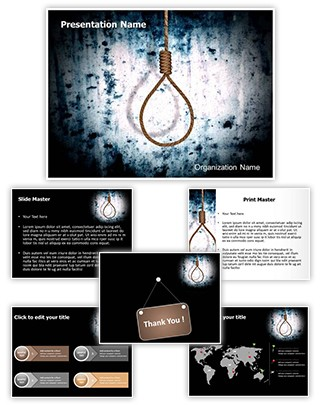 Hangman Execution Editable 3D PPT Template