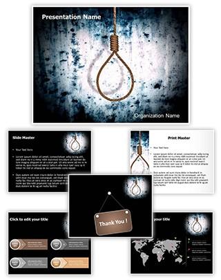 Hangman Execution Editable 3D PPT Template