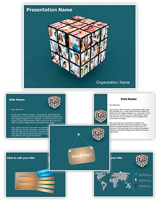 Medical Cube Editable 3D PPT Template