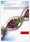 Helix DNA strand Word Templates