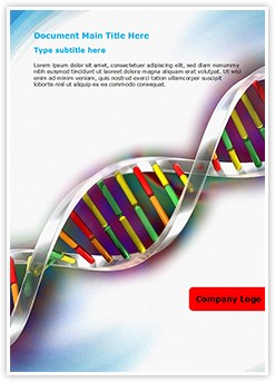 Helix DNA strand Editable Word Template
