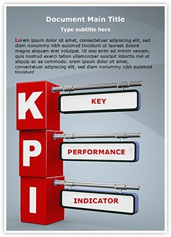 KPI Editable Word Template