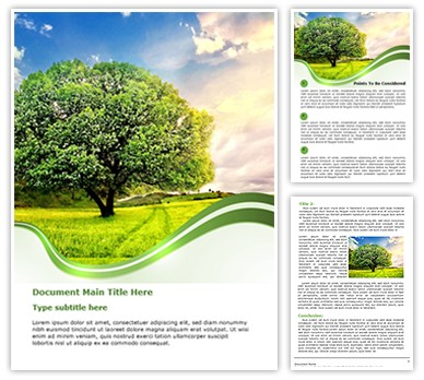 Nature Editable Word Document Template