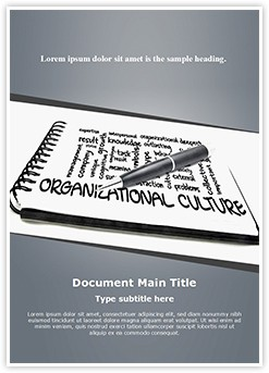 Organizational Culture Editable Word Template
