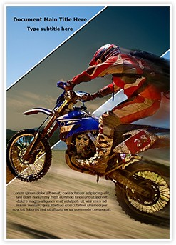 Off-road rider Editable Word Template