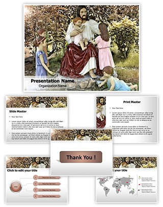 Jesus And Kids Editable PowerPoint Template