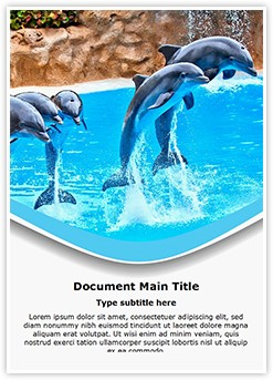 Dolphin Editable Word Template