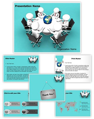 Global Business Meeting Editable 3D PPT Template