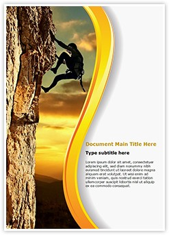 lone Rock Climber Editable Word Template