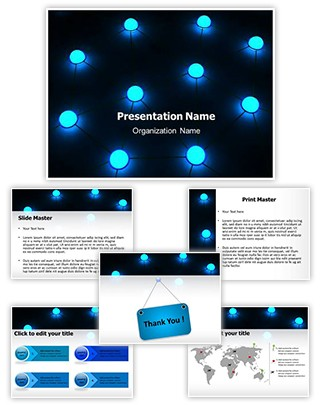 Network Technology Editable 3D PPT Template