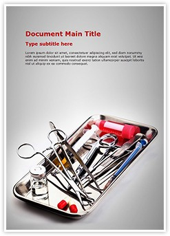 Surgery Instrument Editable Word Template