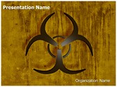 Bio Hazard Symbol Editable PowerPoint Template