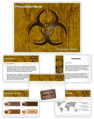 Bio Hazard Symbol Editable 3D PPT Template