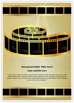 Golden Film Strip Editable Word Template