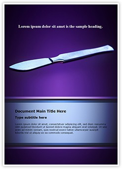 Surgical scalpel Editable Word Template