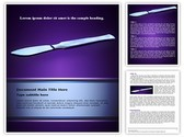 Surgical scalpel Word Template