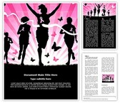 Breast Cancer Awareness Marathon Word Template