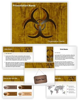 Bio Hazard Symbol Editable PowerPoint Template