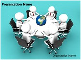 Global Business Meeting 3D Animated PPT Template