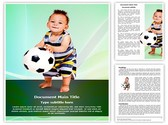 Soccer Kid Editable Word Template