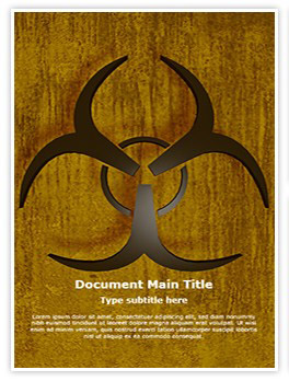 Bio Hazard Symbol Editable Word Template