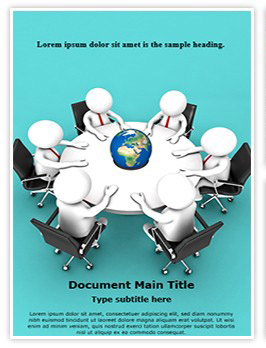 Global Business Meeting Editable Word Template