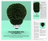 Green Energy Saver Editable Word Template