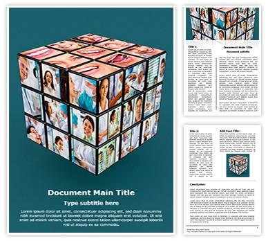 cube template microsoft word